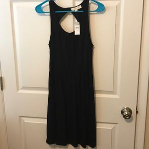 Ann Taylor Loft Black Dress Key Hole Back XS